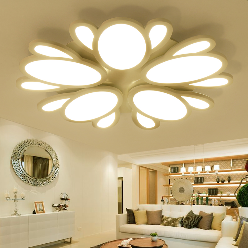 Modern Plafond Ceiling Lamp Wireless Lights Black Fixtures Livingroom Bedroom Acrylic Kitchen Moderne Luminarias