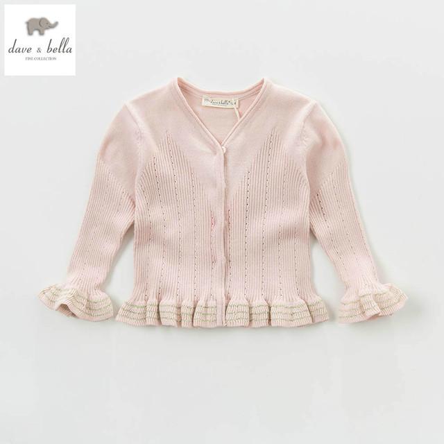 DB5076 de dave bella otoño primavera de los bebés de rayas suéter dulce elegante diseño suéter de las rebecas