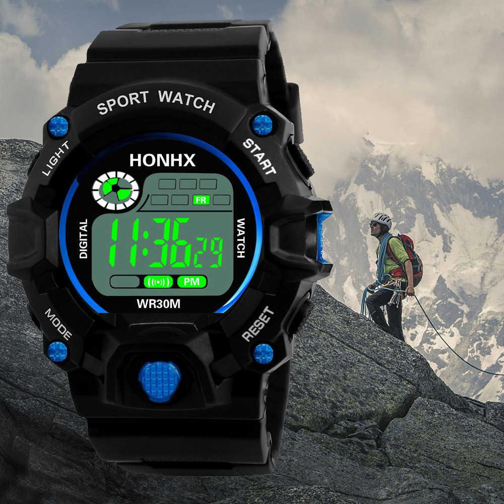 Fashion Digital Watch Men's Military Waterproof Sports Watches Silicone LED Digital Watch Men Wristwatches Clock Male