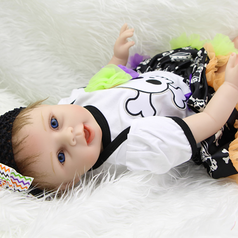 Boneca Newborn Baby Doll 22 Inch Soft Silicone Vinyl Cute Reborn Babies Girl  Realistic Dolls Kids Birthday Xmas Gift  realistic full vinyl 18 inch american doll girl baby reborn newborn dolls so truly real princess girls kids birthday xmas gift