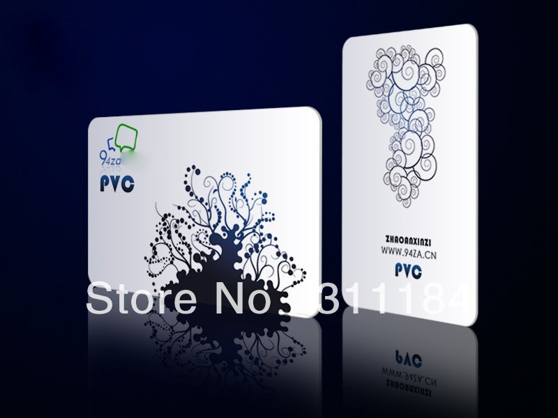 CR80 PVC card plastic business card printing standard reward cards ...