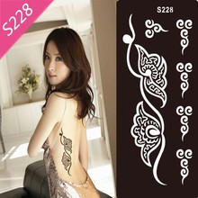 Indian Henna Tattoo Stencils Templates Powder For Tattoo Paste Black Disposable Hainahanna Body Paint Templates