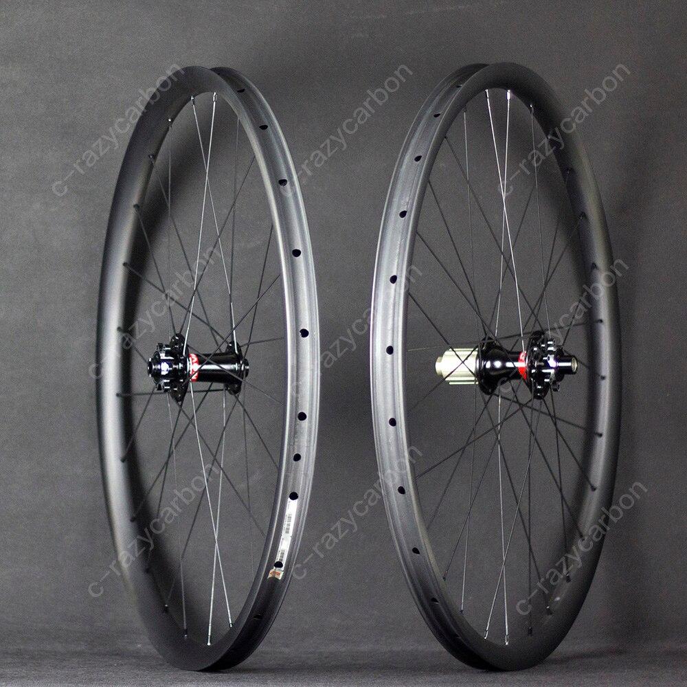 все цены на Asymmetric Novatec 411/412 791/792 Hubs/DT-350 29er MTB Carbon Wheelset XC Hookless Tubeless онлайн