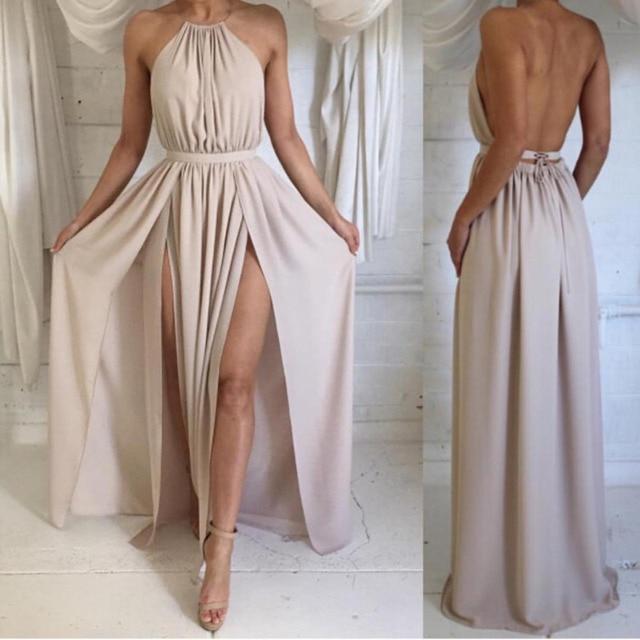 Kadınlar için açık omuzlu Beyaz Elbise Yaz Plaj Boho Maxi Uzun ucuz Zarif Bölünmüş Kokteyl Elbiseleri Parti Elbiseler Vestidos De Coctel