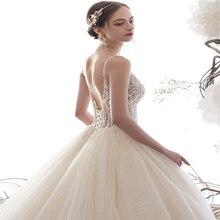 SERMENT Wedding dress 2019 new bride starry minimalist Sen pregnant women tail
