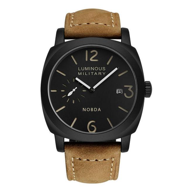 Principais Homens de Relógios de Luxo Da Marca de Quartzo dos homens esportivo relógio 2016 homens Do Exército NOBDA 016B Relógio Militar Relógio De Pulso relogio masculino de luxo marcas famosas