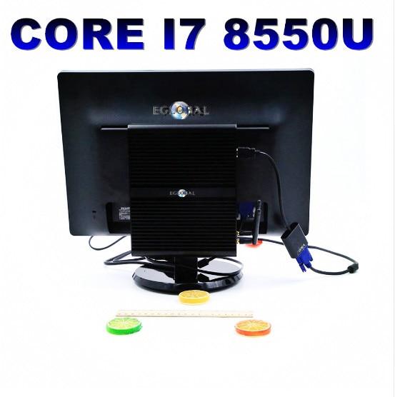 Intel Core I7 8550U Quad Core Fanless Mini Computer Genuine Windows 10 Pro Linux Ubuntu Minipc No Fan WIFI HDMI Nettop