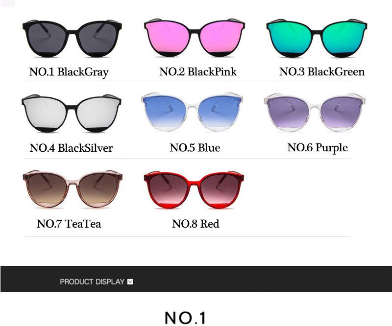 RBROVO Gafas de sol mujer vintage 8
