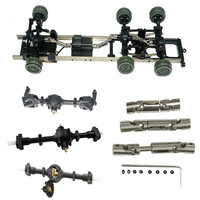 Model parts Metal gears sturdy front + center + rear axle with 1 set of shafts for WPL Ural B16 B 36 RC L0614