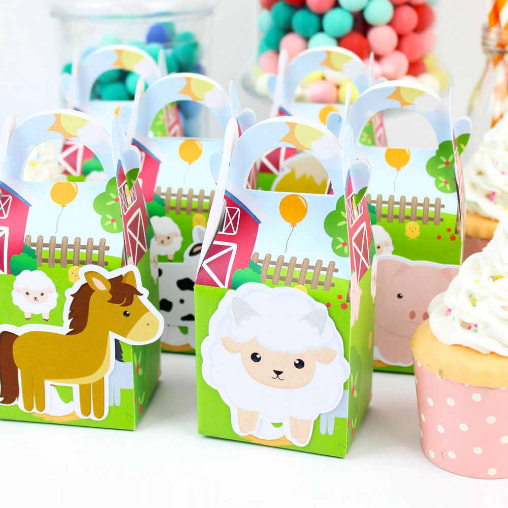 Gospodarstwa Theme Party ciasto Topper zwierząt gospodarskich centralny urodziny dekoracje świąteczne dostarcza zwierzęta gospodarskie Theme Party zestaw materiałów eksploatacyjnych