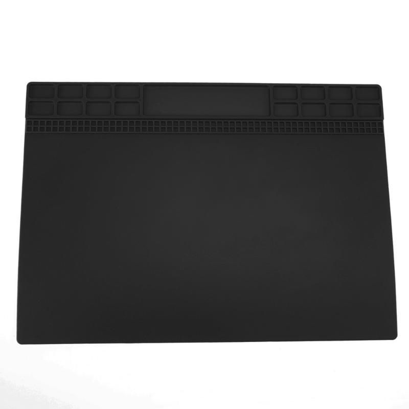 1 Pcs Heat-resistant Soldering Mat Silicone Heat Gun BGA Soldering Station Insulation Pad Repair Tools Platform Desk Mat silicone heat resistant mat orange