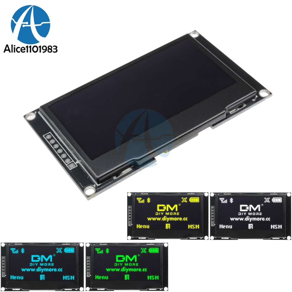 "2.42"" 2.42 inch LCD Screen 12864 128X64 OLED Display Module C51 STM32 SSD1309 for Arduino White/Blue/Green/Yellow"