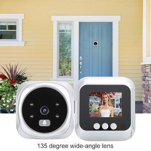 Image 4 - 2.4 بوصة جرس الباب الرقمي LCD اللون حامل شاشة للرؤية الليلية فيديو ثقب الباب المشاهد جرس باب ذكي كاميرا جرس الباب للمنزل