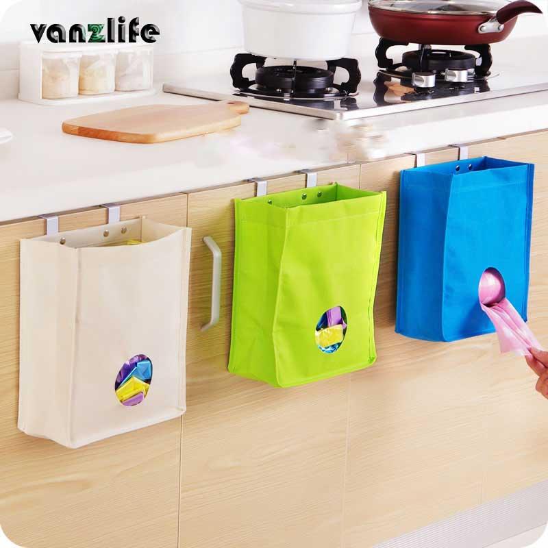 Vanzlife gabinete de cocina, puerta, puerta, tipo de extracción, bolsa de basura, bolsa de almacenamiento, uso múltiple, bolsa de almacenamiento de tipo colgado