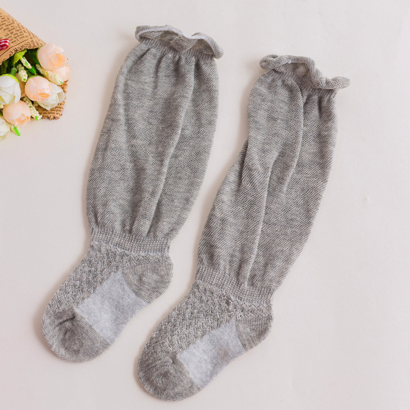 mesh thin cotton baby socks Newborn over the knee sock 0 1 3 years old high tube anti mosquito socks baby girl stuff in Socks from Mother Kids
