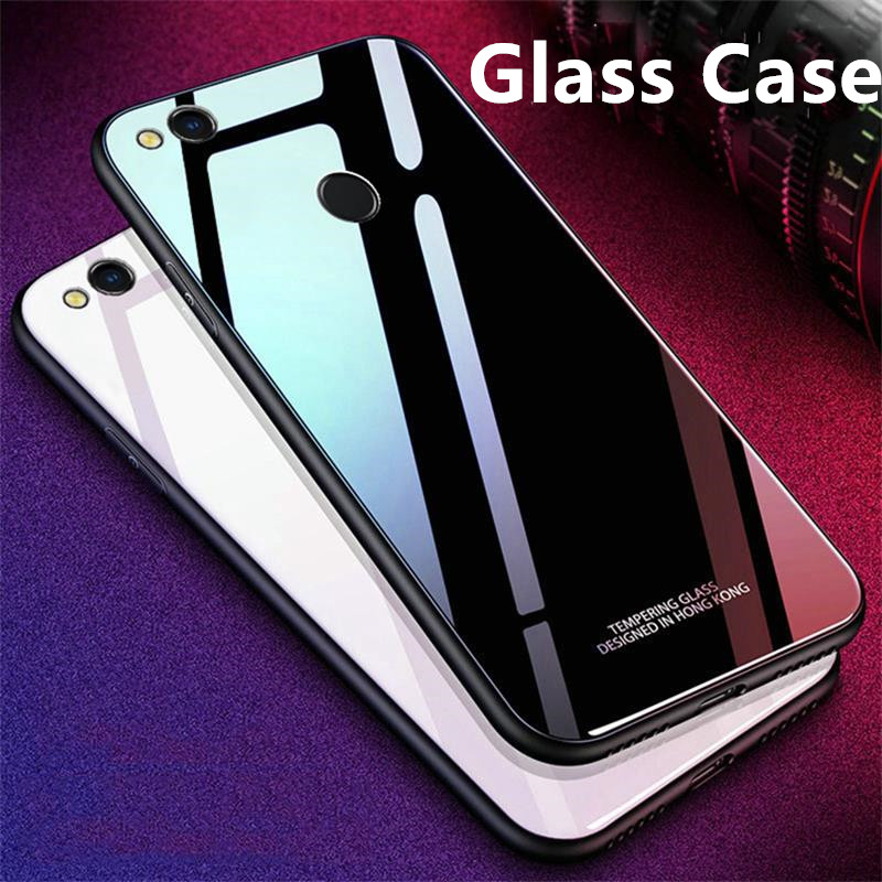 <font><b>Cases</b></font> For <font><b>Huawei</b></font> Honor 8 <font><b>Lite</b></font>/P8 <font><b>lite</b></font> 2017 <font><b>Glass</b></font> <font><b>Case</b></font> Luxury TPU frame+<font><b>Glass</b></font> back Cover Accessory On <font><b>P9</b></font> <font><b>Lite</b></font> 2017 Fundas Coque image