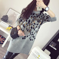 Design long pullover sweater dress with long-sleeve sweater thickening women's dress outerwear