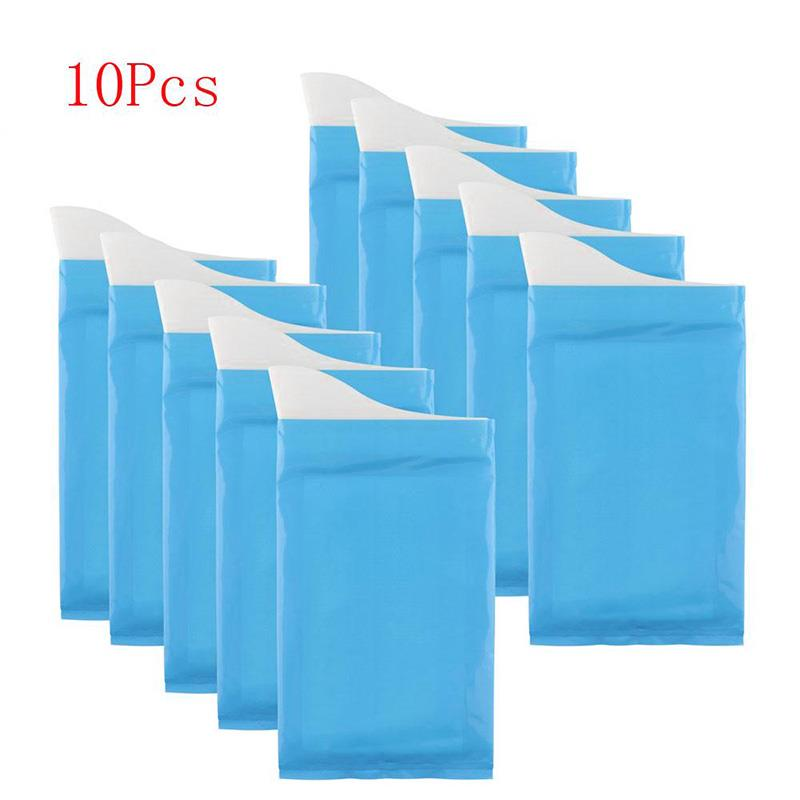 10pcs Driving Emergency Toilet Airsickness Bag Toilet Parts Urinals Bags 600CC Mini Toilet Contain Litter Bag For Baby/Women/Men