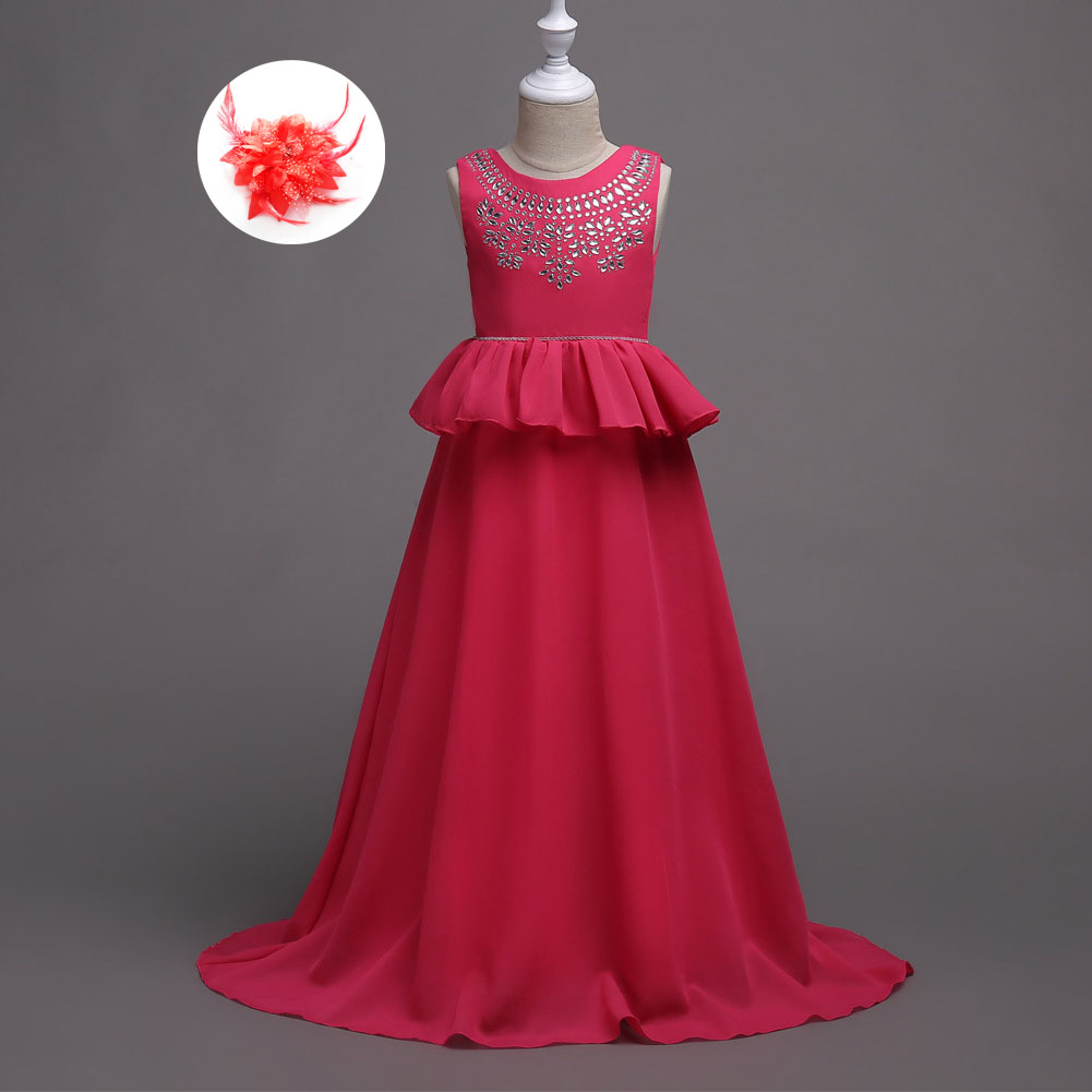 Kids Party Clothing for Girls 5 To 10 11 12 13 14 15 16 Years Long Girls Maxi Dress Wedding Evening Gowns for Children
