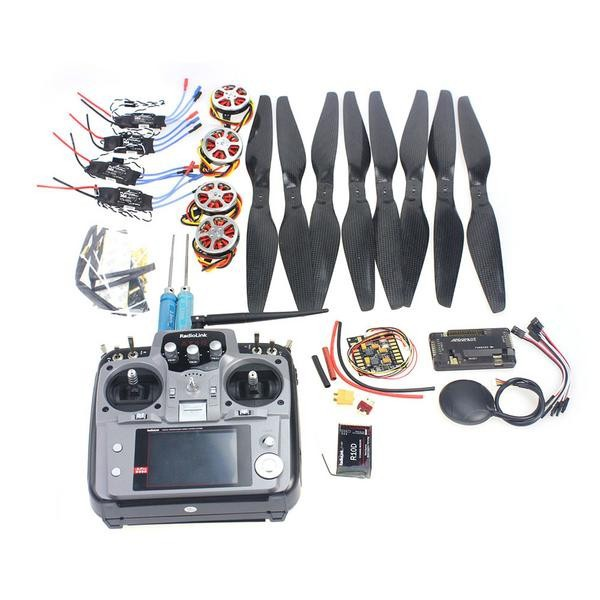 JMT 4-Axis Foldable Rack RC Quadcopter Kit APM2.8 Flight Control Board+GPS+750KV Motor+14x5.5 Propeller+30A ESC+AT10 TX f02015 f 6 axis foldable rack rc quadcopter kit with kk v2 3 circuit board 1000kv brushless motor 10x4 7 propeller 30a esc
