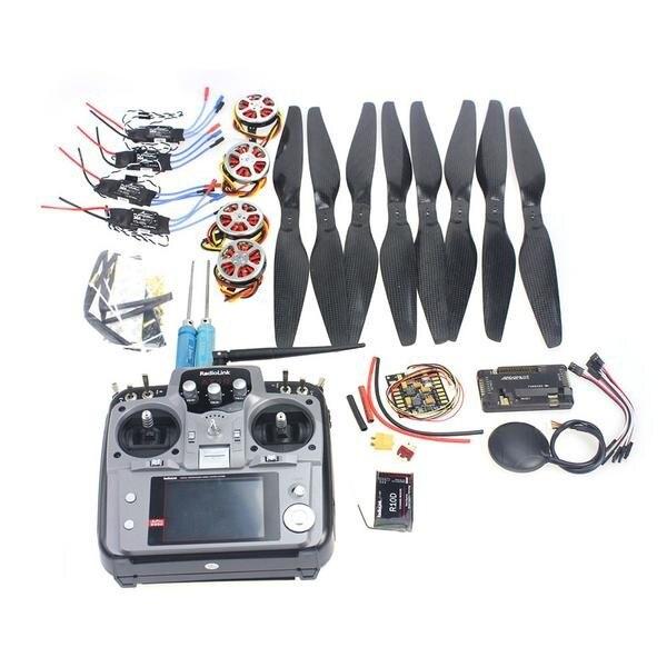 JMT 4-Axis Foldable Rack RC Quadcopter Kit APM2.8 Flight Control Board+GPS+750KV Motor+14x5.5 Propeller+30A ESC+AT10 TX f05422 c foldable rack rc quadcopter kit apm2 8 flight control board gps 750kv brushless motor 15x5 5 propeller 30a esc