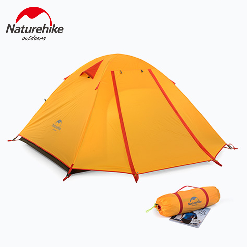 Naturehike Ultralight Outdoor Camping Tent Trail Trekking Hiking Travelling Beach Tent 3 Persons Family Tent Anti UV Waterproof alltel super large anti rain 6 12 persons outdoor camping family cabin waterproof fishing beach tent 2 bedroom 1 living room