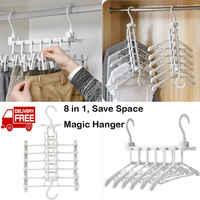 2019 Brand New 8-in-1 Universal Magic Space Saving Hanger Clothing Rack Closet hanger Organizer 8 in 1 Multifunctional Hanger