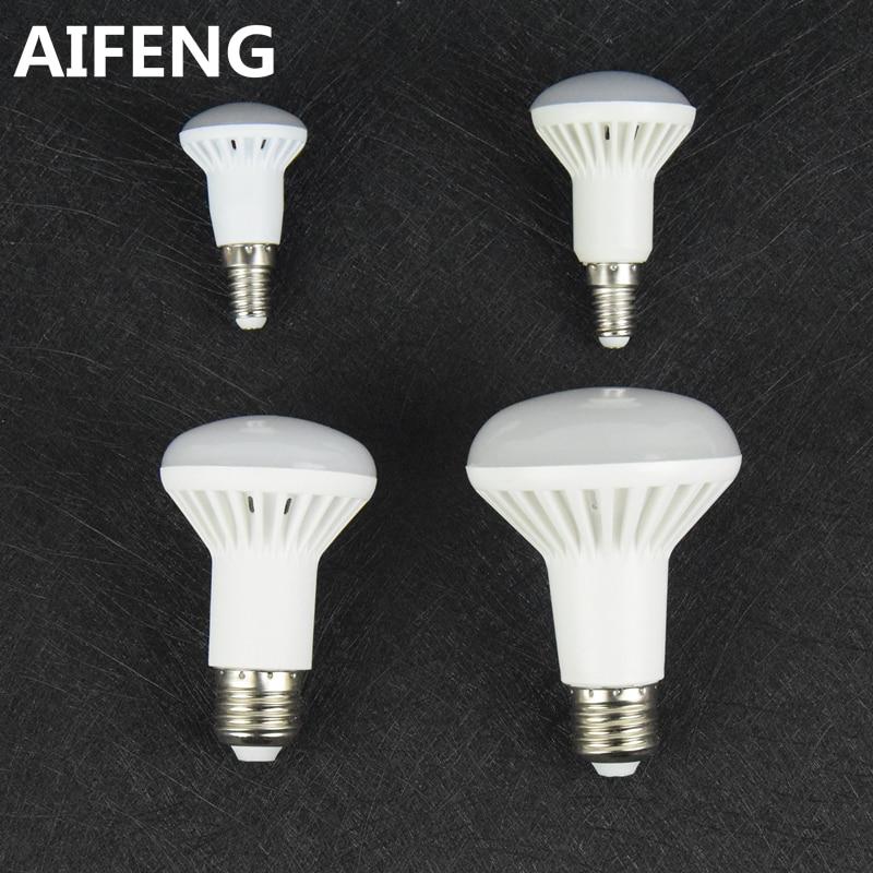 AIFENG dimmable e27 E14 12W 9w 7W 5W led light r80 R63 R50 R39 spotlight bulb COOL WHITE warm 5730smd lamp 110v 220v 230v 240v led light bulb r50 r63 r80 e14 e27 b22 5w 7w 9w 5730smd reflector light lamp bulb pure warm natural white lighting ac85 265v