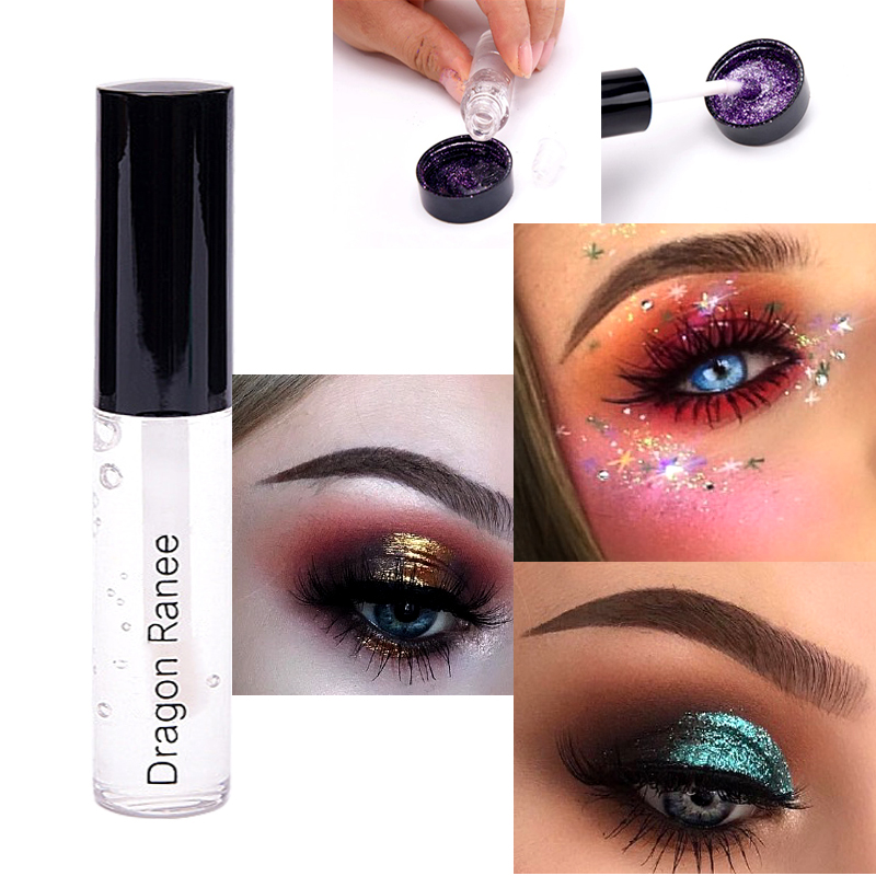 1/3pcs Quick Fast Drying Glitter Gel Shimmer Eyeshadow Liquid Glue Waterproof Lasting Eyes Makeup Cosmetics2018r7 Eye Shadow