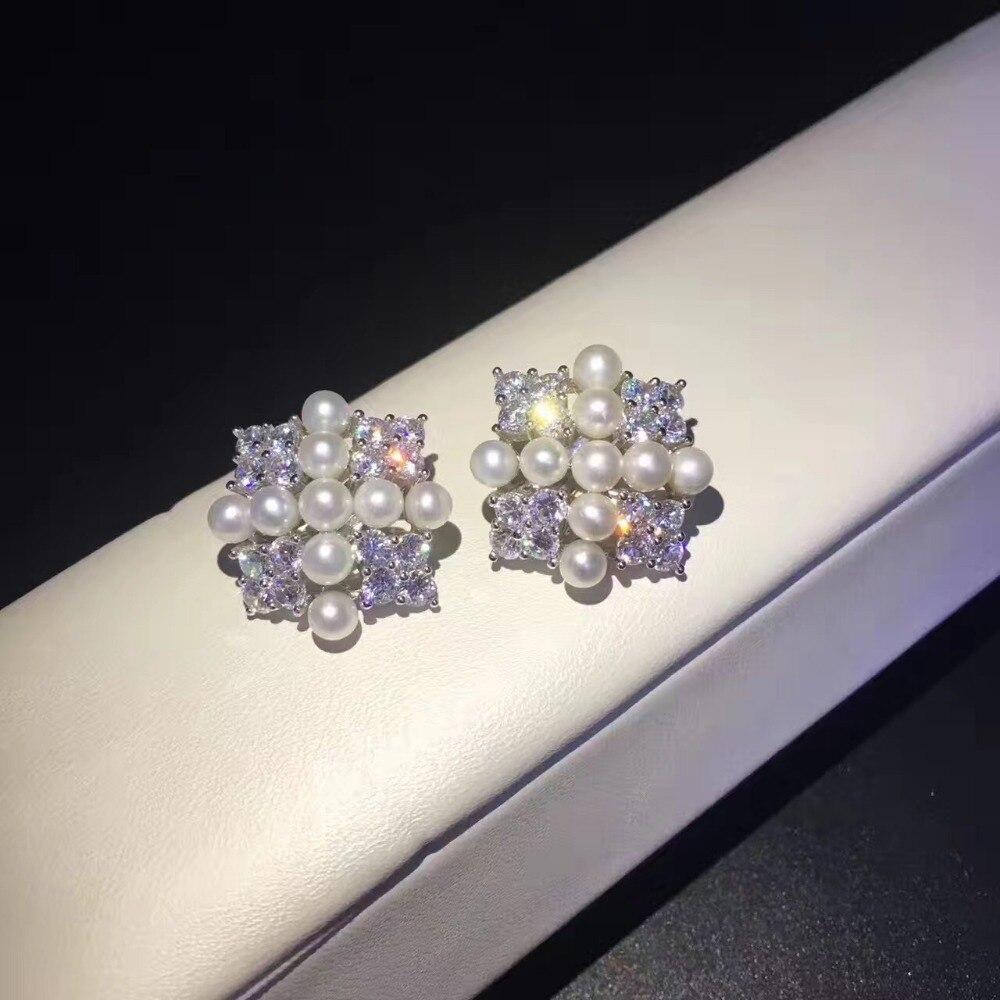 Fine jewelry réel de culture perle clip boucle d'oreille 925 stering argent carré d'eau douce perle boucle d'oreille bijoux livraison gratuite