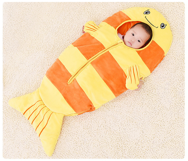Mermaid Tail Blanket Towel Baby Envelopes Newborn Infant Sleeping Bag Cartoon Fish Children Blanket Swaddle Baby Sleeping Bag removable liner baby infant swaddle blanket 100