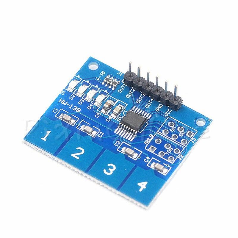1Pc ST077b TTP224 4 Channel Switch Touch Sensor Capacitive Touch Sensor Module DIY Tool Part digital capacitive touch sensor switch module