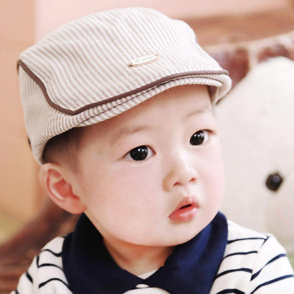 460a246b2acaf 1 Pc 2019 New Hot Fashion Style Lovely Children Kids Boys Girls Stripe Beret  Cap Peaked Casquette Newborn Baseball Hat For Kids-in Hats   Caps from  Mother ...