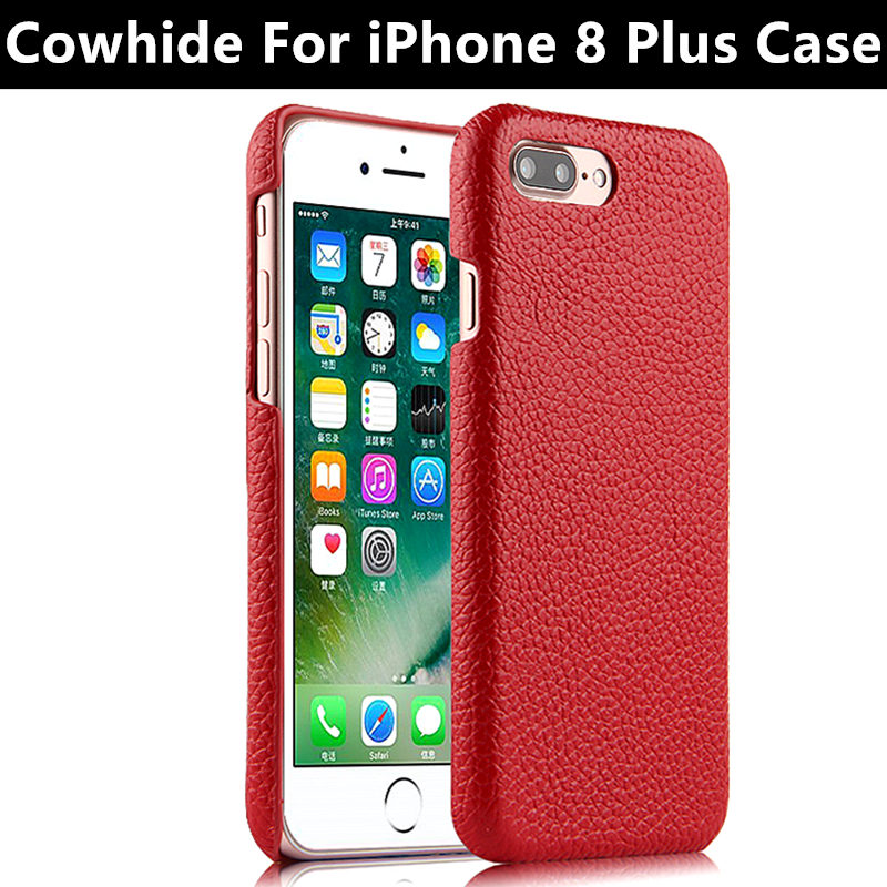 Mobile Case Cowhide For iPhone 8 Plus Protective shell
