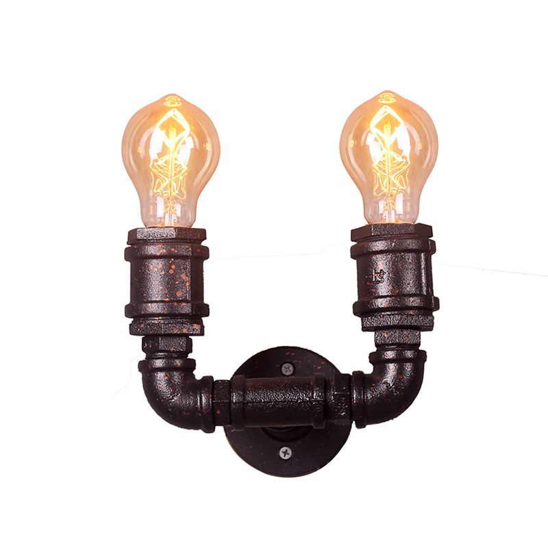american industry wind wall lights water pipe arm sconces cafe bar aisle restaurant living room stair dining room light bra