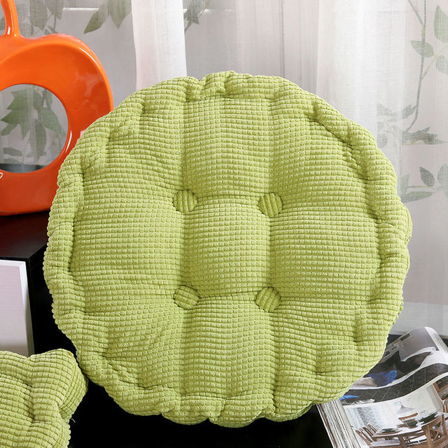Corn Corduroy Seat Cushion Thick Elastic Round Cushion Pillows Vintage  Decorative Solid Color Sofa Chair Cushions