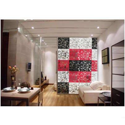 Pendurado conjunto de tela dobrável 8 peças moda partições entrada porta tv recorte grelhas