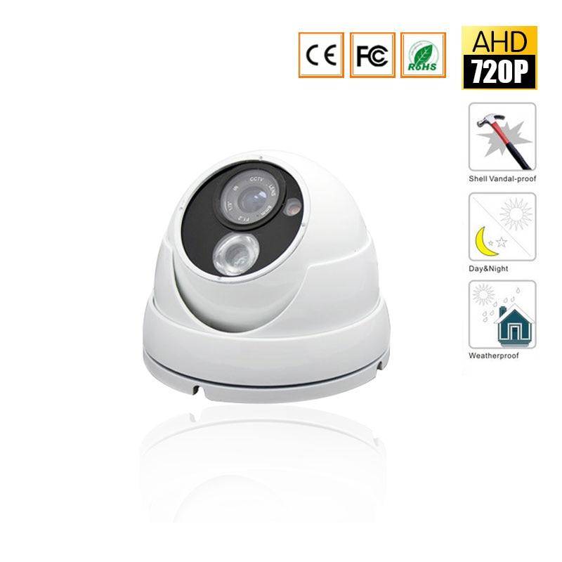 CCTV Waterproof Outdoor 2.8mm lens Camera 1/4'' CMOS Sensor 2000TVL 1.0MP 720P Dome AHD Camera CCTV Security Surveillance IR Cut