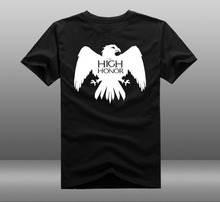 Game of throne House Arryn of the Eyrie Logo as High as Honor T shirts Print