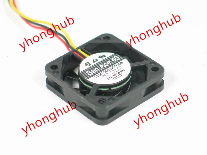 Sanyo Denki 109P0405H9D08 Server Square Fan DC 5V 0.160 40x40x10mm 3-wire smt motor sanyo denki l404 011e17 dc servo motor genuine new