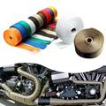 5M Titanium Thermal Exhaust Header Pipe Tape Heat Insulating Wrap Tape Fireproof Cloth Roll With Durable Steel Ties Kit