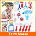32PCS Doctor Toys Pretend Play Medicine Medical Kit doctora juguetes Simulation Medicine Stethoscope Syringe Scalpel doctor set