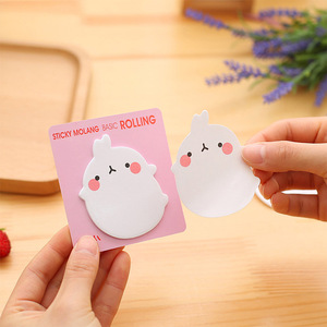 Image 4 - 36 pcs/lot Molang Rabbit Memo Pad Sticky Notes Cartoon Post Bookmark Stationery Label Stickers School Supplies Notepad escolar