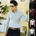 Free Shipping ! 2015 autumn New Fashion Casual slim fit long-sleeved men's slim dress shirts Korean Leisure styles cotton shirt