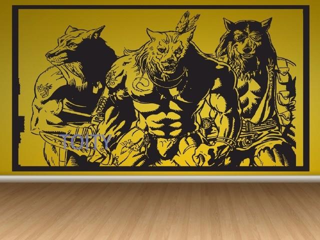 Aliexpress.com : Buy Werewolf Sticker Wall Room Decor Art Wolf Puppy ...