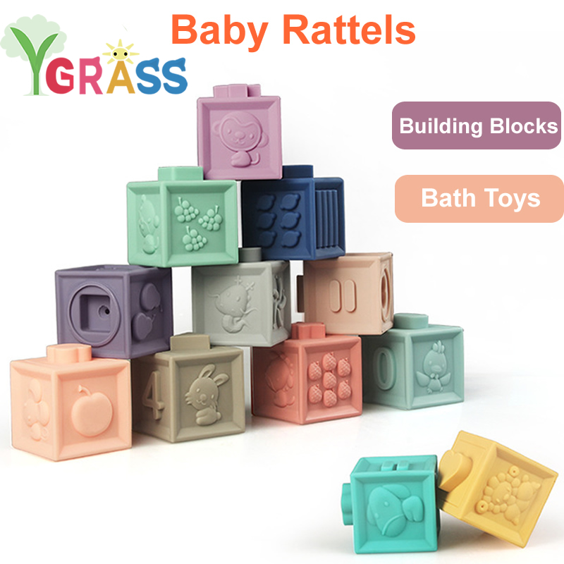 Baby Soft Toys Stacking Toys Sorting Nesting Toy Learning Geometric Shape Puzzles Blocks Early Educational Sorter For Children