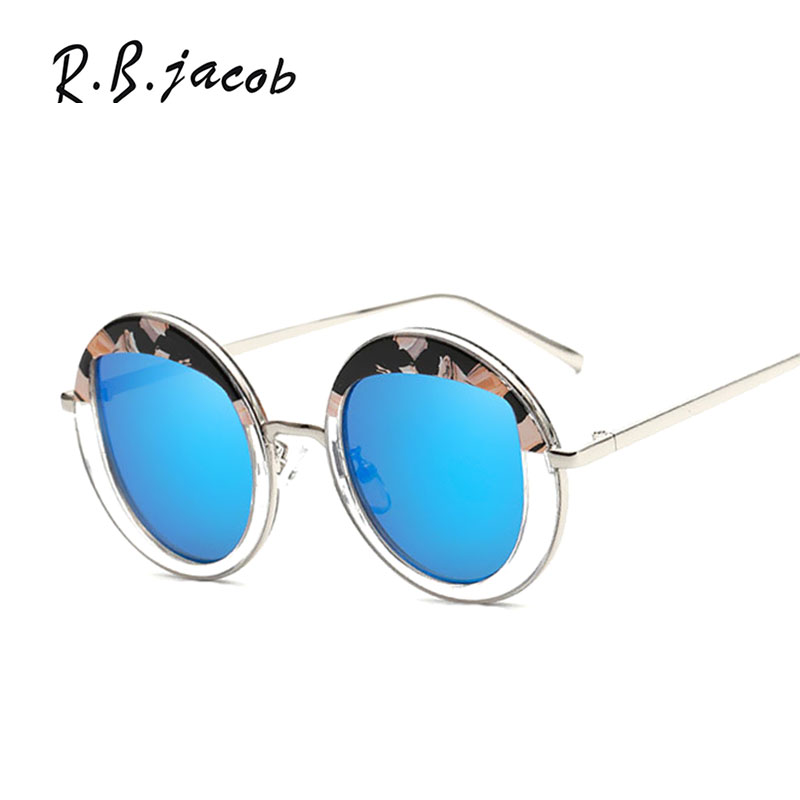 Hip Hop Sun Glasses Fashion Shades Steampunk UV400 Strange Unique Hollow Round Mirror Sunglasses Women 2017 New Brand Designer