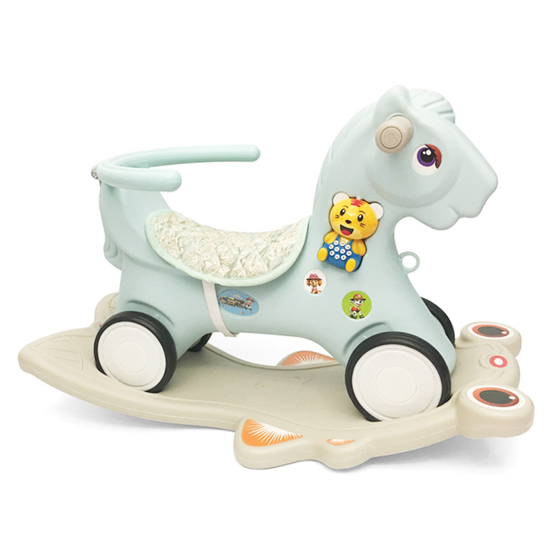 Kids Riding Toys 3 In 1 Baby Rocking Horse Riding Horse Toy Household Ride on Animal Toys Plastic Baby Walker Kids Horse Toys
