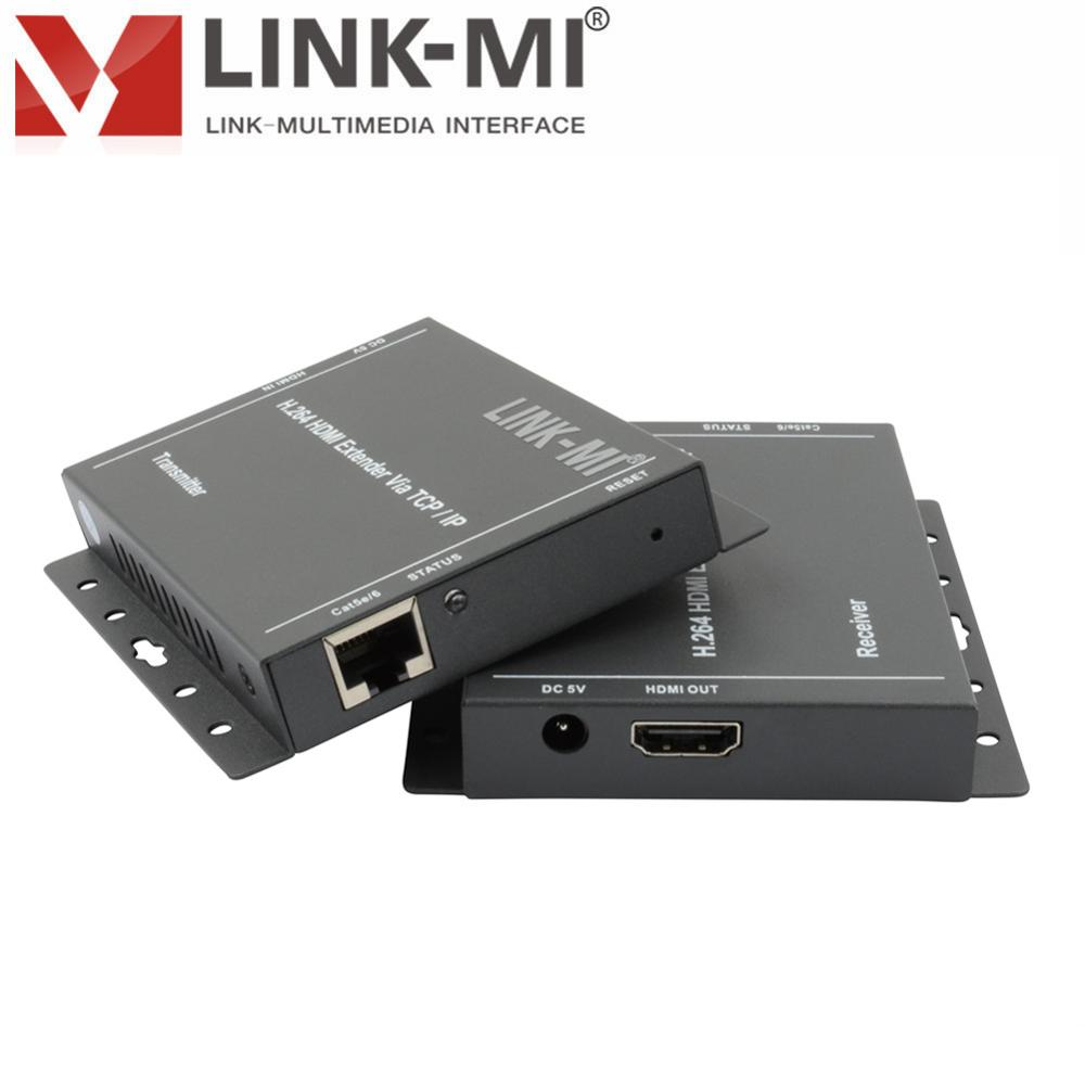 LINK-MI HE150 H.264 HDMI Extender over TCP/IP 150M-200M HDMI Ethernet Over Cat5/Cat5e/Cat6 Rj45 UTP transmit HD video and audio hdmi extender rj45