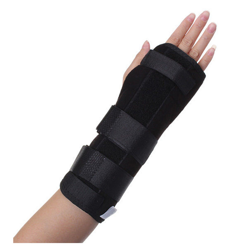 JHO-Black Wrist Brace Support Splint For Carpal Tunnel Arthritis Sport Sprain Pain Right Hand